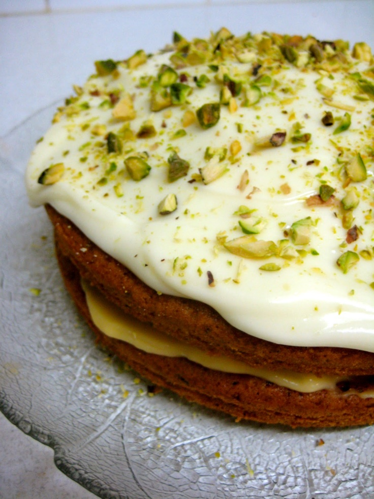 Flora's Famous Courgette Cake (p. 18) zucchini cake with cream cheese frosting from nugella lawson , the domestic goddess
