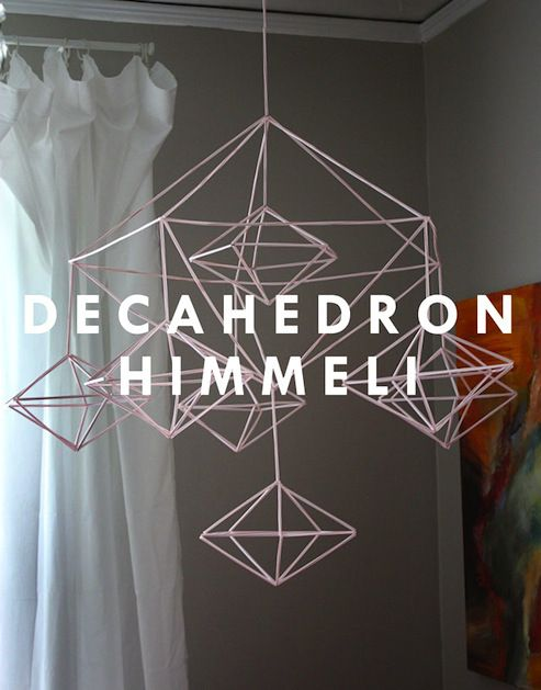 How-To: Decahedron Himmeli Mobile | MAKE