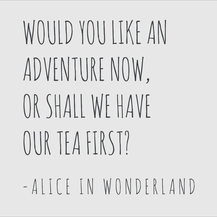 Alice in Wonderland Adventure Wall Sticker Quote Black