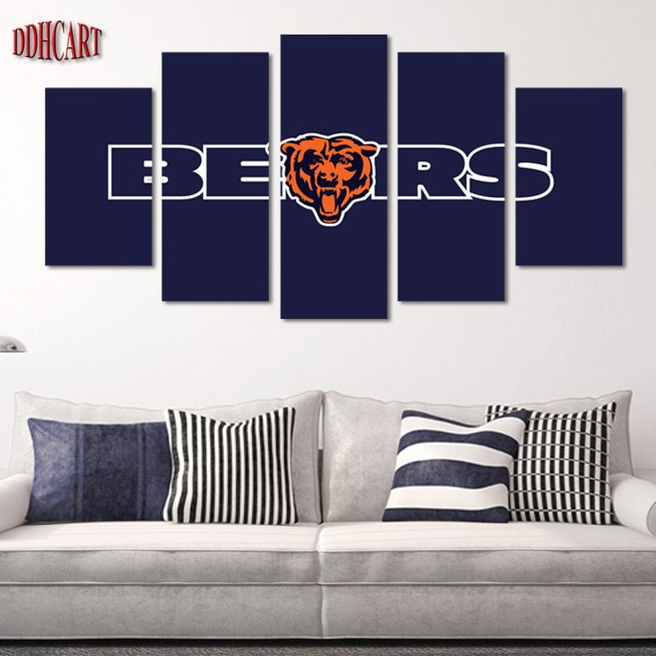 5 Piece Chicago Bears Sports Star Picture Wall Art Pictures Print On Canvas  Painting For Living Room Home Decoration Poster Bedroom ~ Shop 4 Xmas N  2018. Part 26