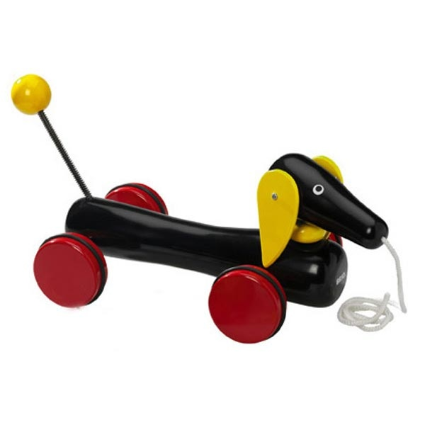 Brio Dachshund- perhaps Stella's favorite of her Christmas presents