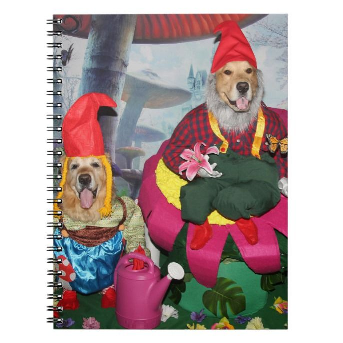 Golden Retriever Gnomes In The Enchanted Forest Notebook Zazzle
