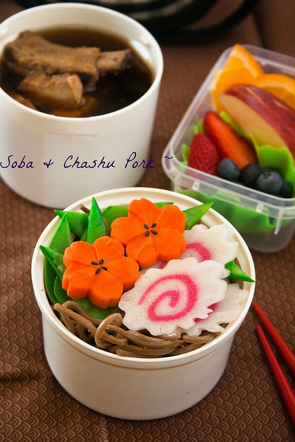 Japanese Soba Noodles Bento Lunch 弁当