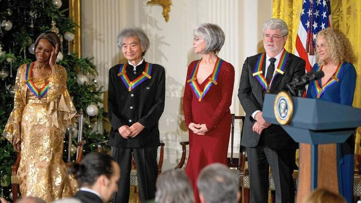 The Kennedy Center Honors Gala on Sunday recognized Cicely Tyson, from left, Seiji Ozawa, Rita Moreno, George Lucas and Carole King. (Andrew Harnik / AP)