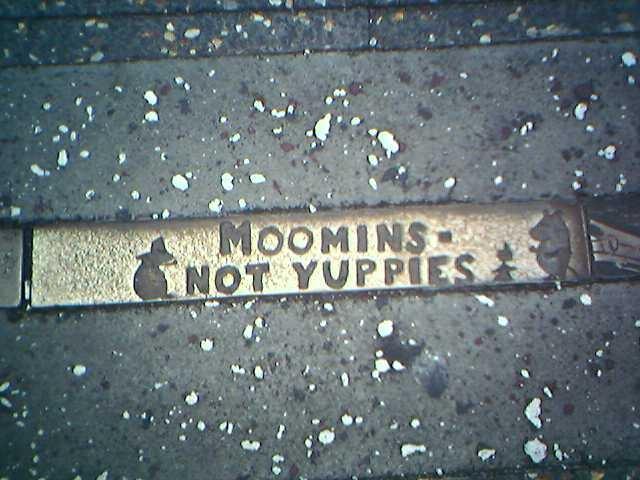 Moomin sidewalk plaque