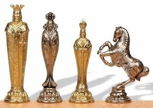 Elegant metal chessmen | the chess store
