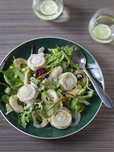 Recette de salade de chèvre et poires caramélisées