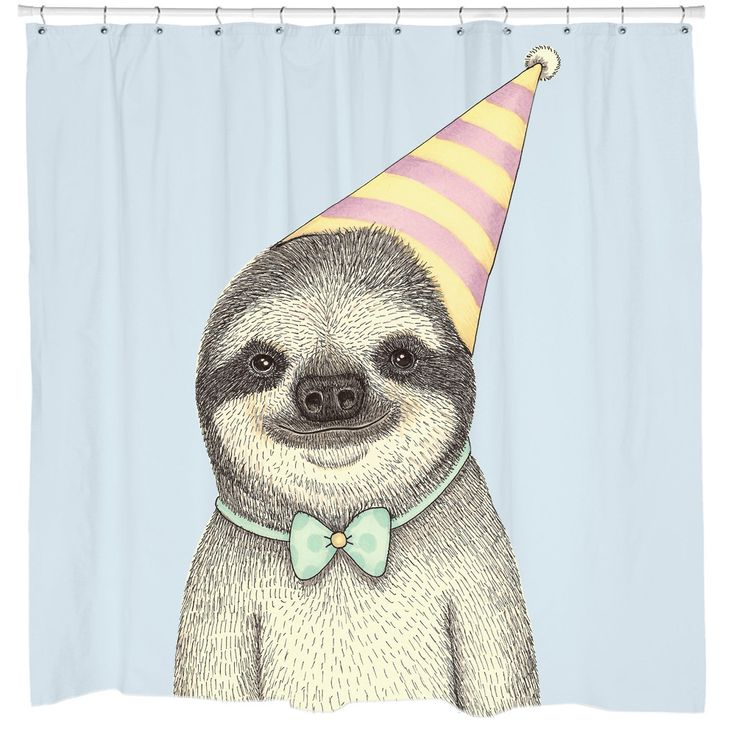 This̴Ì_sloth Shower Curtain Is Bound To Make You Smile. If Youu0027re Looking  For A Funny Shower Curtain, Look No Further. Illustration By The Talented  Indi ...