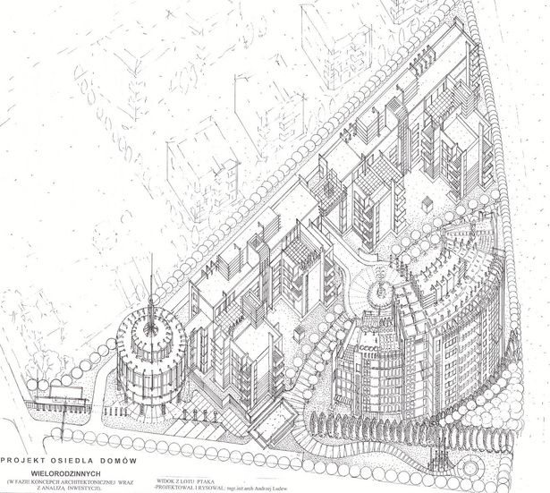 WLODARZEWSKA APARTMENTS-DRAWING & DESIGN BY ANDREW LUDEW-ARCHITECT