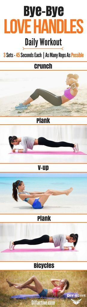 This daily workout is AMAZING. By eating right and doing this workout daily you can kiss your love handles goodbye!