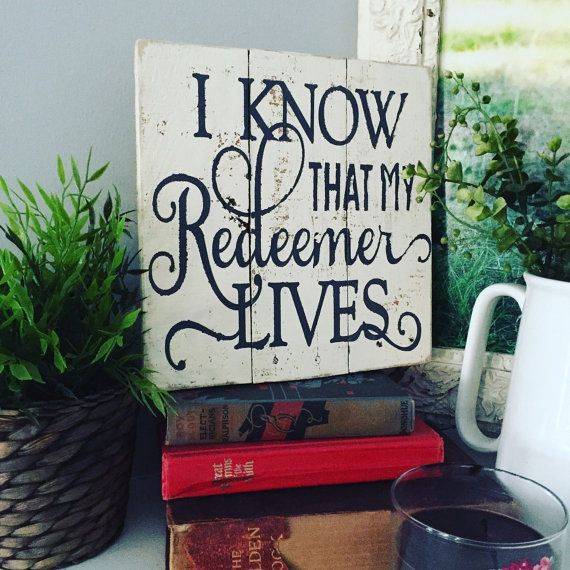 Easter  My Redeemer Lives by TheRedTableNC on Etsy