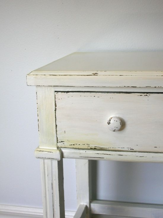 Great tutorial for painting furniture if you're going for a lightly distressed look with an aged patina.