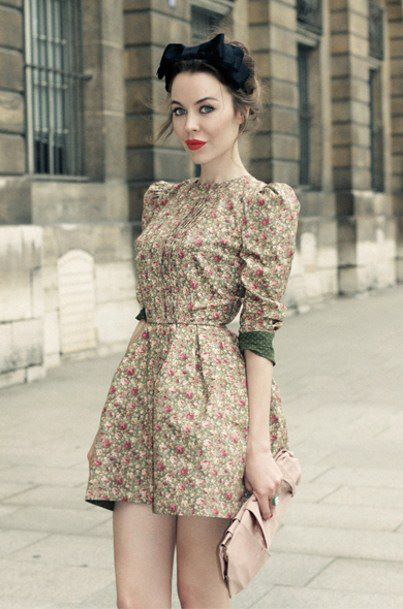 силуэт: Summer Dresses, Fashion Dresses, Street Style, Vintage Floral, Fashion Inspiration, Shorts Dresses, Floral Dresses, Ulyanasergeenko, Ulyana Sergeenko