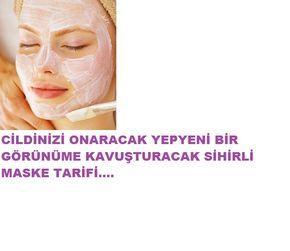 Cildinizi onaran sihirli maske tarifi.Bu maske ile cildiniz yepyeni bir görünüme kavuşacak sihirli maskeyi mutlaka deneyin