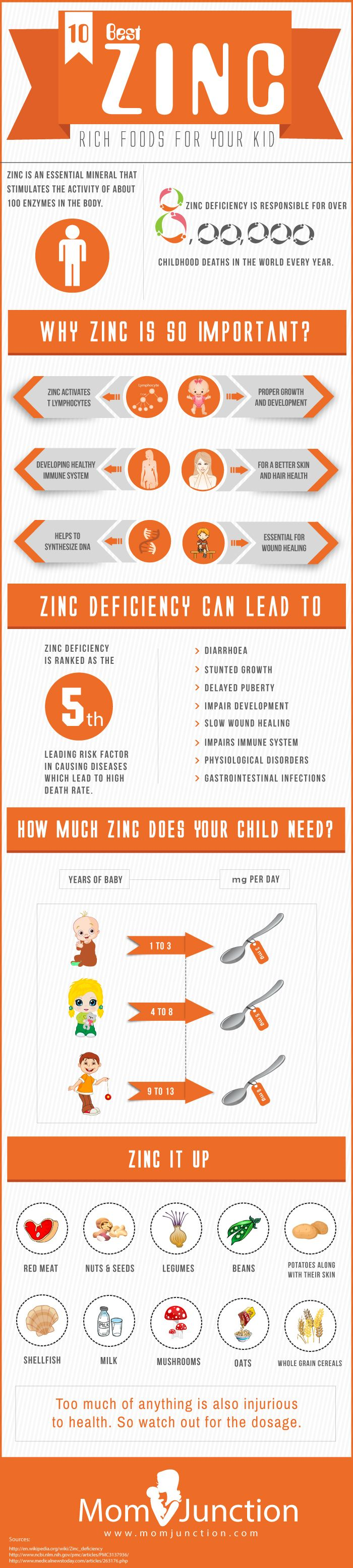 8 Best Zinc Rich Foods For Your Kid