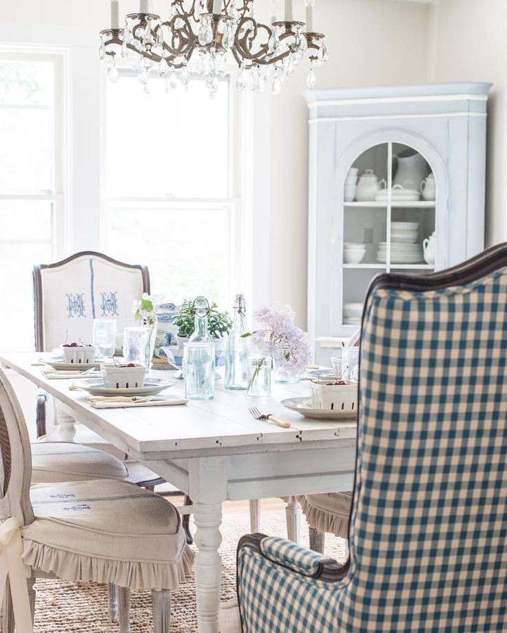 Farmhouse White Dining Room Table