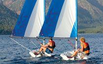 Dinghy sailing in Adakoy