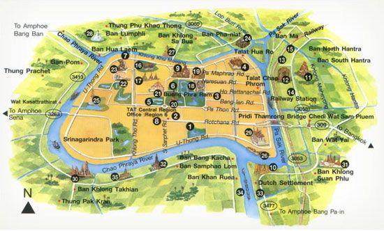 Ayutthaya Carte Thailande.Carnet De Voyages Et Photos Thailande Ayutthaya