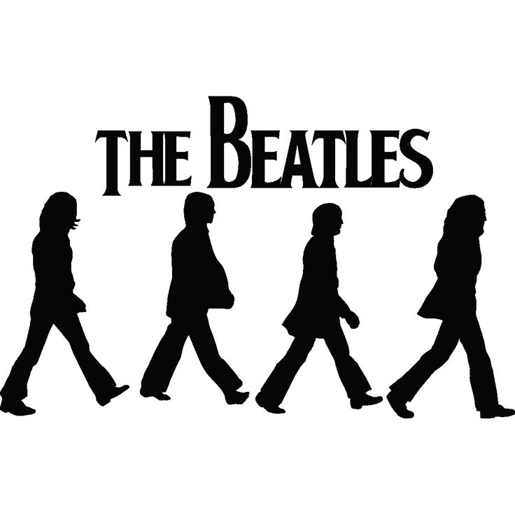 Images For > Beatles Silhouette Abbey Road