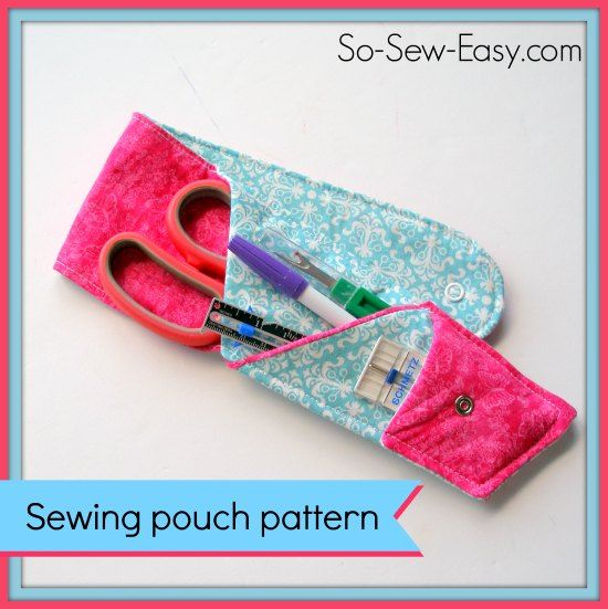 Sew a free scissors pouch pattern. This cute sewing pouch has space for your scissors, essential sewing tools and a few needles or other odds and ends.