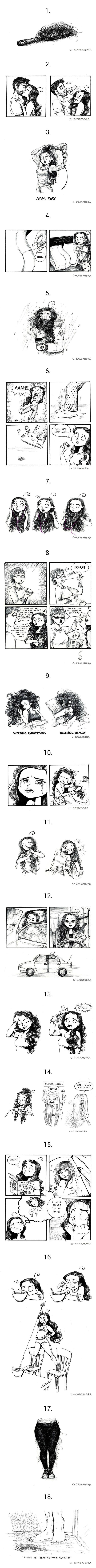 18 problemas que todas las chicas con pelo demasiado largo van a entender - TKM Argentina