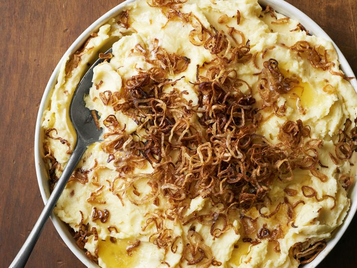 Mashed Potatoes With Caramelized Shallots Recipe — Dishmaps