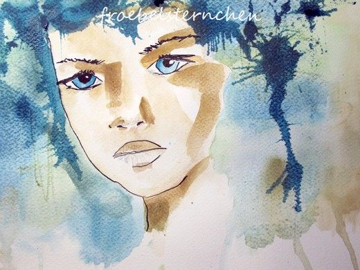 froebelsternchen: Watercolor Face