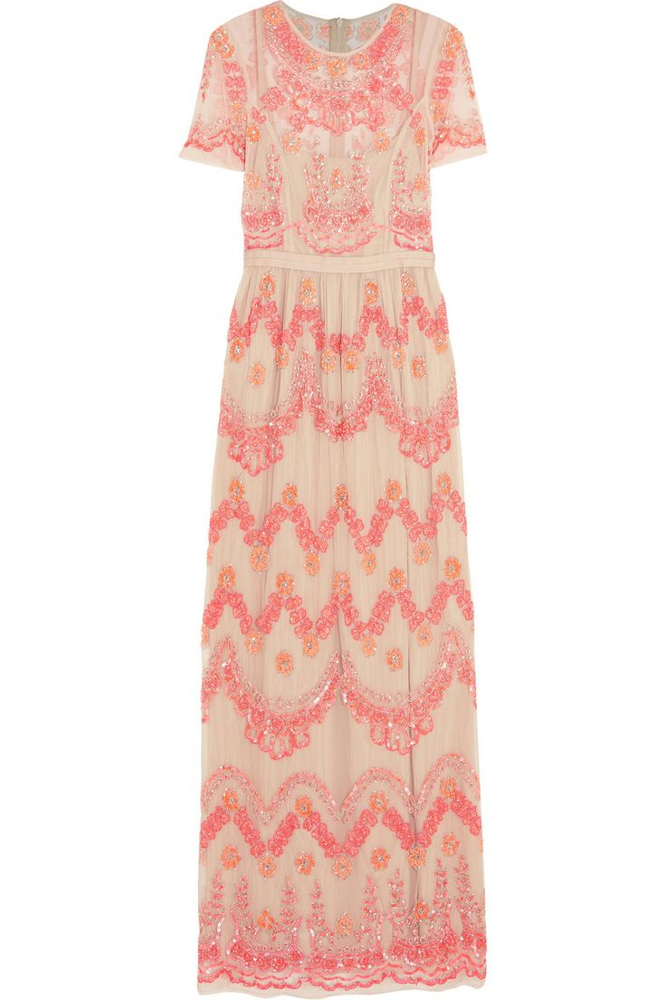 NEEDLE & THREAD Sequined tulle maxi dress $202.50 http://www.theoutnet.com/products/532641