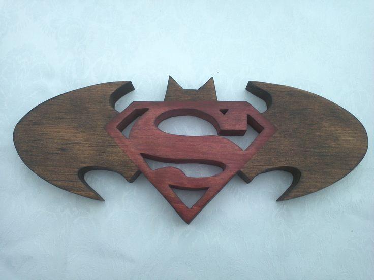 "Unique Batman Vs Superman Bedroom Ideas That Rock: Two In One Custom Made 10.5"" X 4"