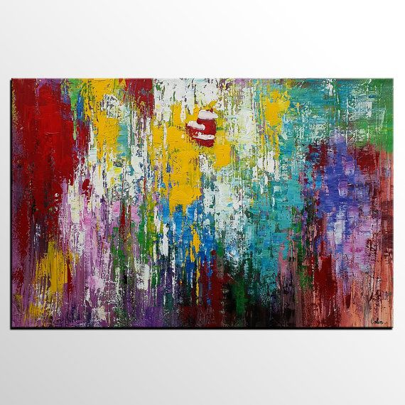 Oil Painting Abstract Art  Canvas Painting Large Wall by Topart007