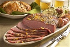 Possibly the best Corned Beef recipe ever! Dijon-Glazed Corned Beef with Savory Cabbage and Red Potatoes.