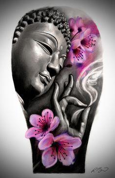 Tattoo Design   Buddha by badfish1111.deviantart.com on @DeviantArt