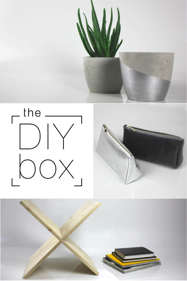 yes, all of these are out of the DIY box.  #theDIYbox #concrete #concretepot #pencilcase #dressingcase #magazineholder #doityourself