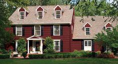 Red+Exterior+Home+Paint+Ideas   Exterior Paint Ideas - Farmhouse Style House Colors