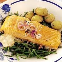 Zalm uit de oven met zeekraal en rosé - Allerhande