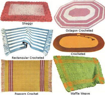 Maysville Rugs; shaggy, crochet, weave Vintage Patterns Book for download