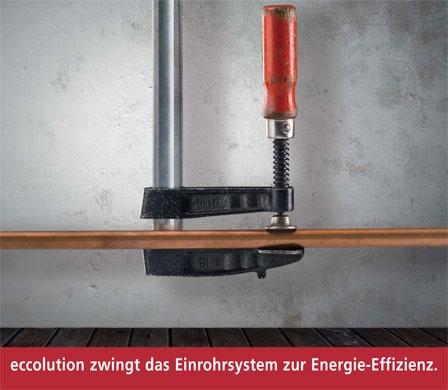 ECCOLUTION - Das innovative Sanierungssystem macht die Einrohrheizung zukunftsfähig.
