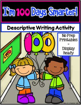 I'm 100 Days Smarter is a fun and engaging descriptive writing activity. The graphic organizers are scaffolded for all levels of writers, and the final draft templates are display-ready to show off the students' writing. It includes: 1 Brainstorm Graphic Organizer 3 Paragraph Graphic Organizers 1 Primary lined 2 pg template 1 Lined 2 pg template 1 Blank 2 pg template