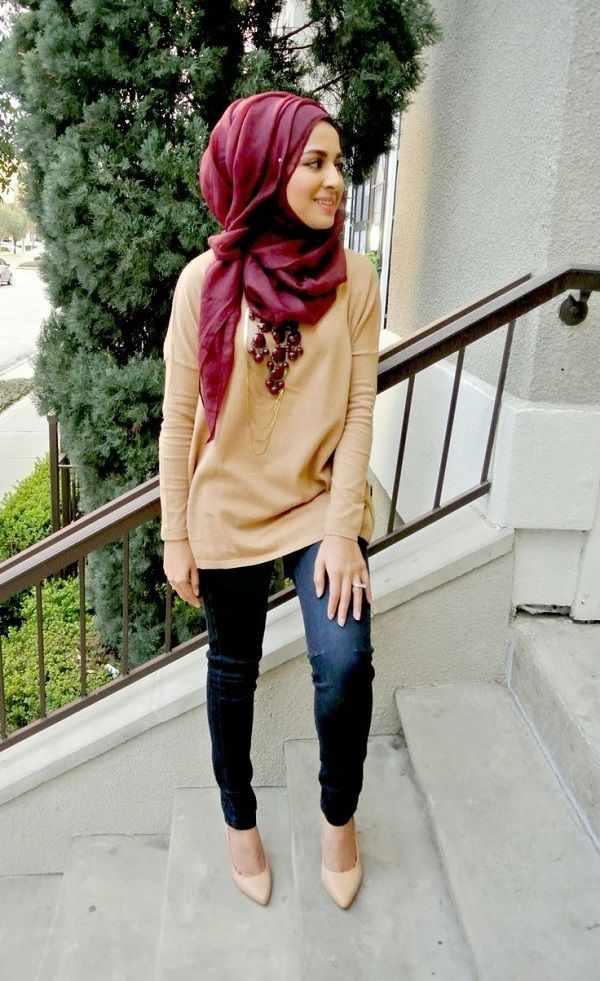 Latest Casual Hijab Styles with Jeans 2016-2017 Trends   StylesGap.com