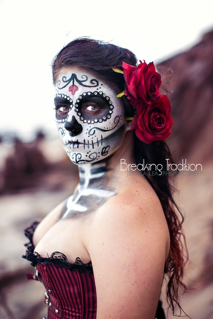 Sugar Skulls Makeup Ideas, Day of the Dead, Dia de los Muertos, Halloween Makup ideas, Jacksonville Big Talbot Island Photographer, Conceptual Photography