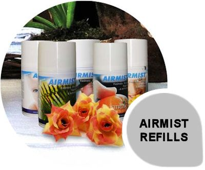 Airmist Refills: Airmist fragrances are modern and offer impact options to match all preferences. All Airmist fragrances are complex, long lasting with a choice of unique fragrances for a variety of locations Airmist refills come in 270ml and 100ml options and can last up to 60 days in a service cycle.
