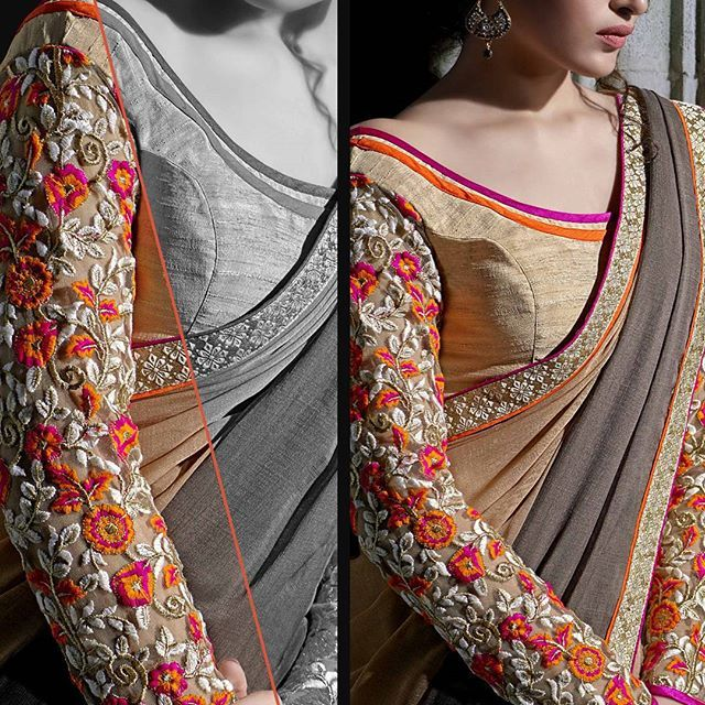 Sleeves on blouse