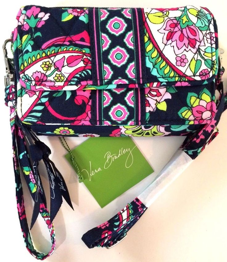 New Vera Bradley Petal Paisley All in One Crossbody Wristlet Smart Phone Wallet #VeraBradley #WristletWalletCrossbody