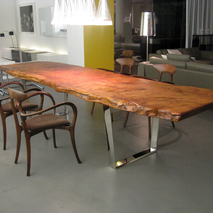 slab dining table by scott dworkin referred to by some as the michelangelo of wood. Black Bedroom Furniture Sets. Home Design Ideas