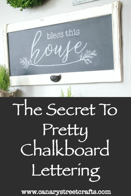 Easy step by step instructions for creating gorgeous chalkboard lettering. http://canarystreetcrafts.com/