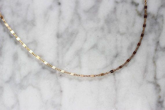 14k gold filled SEQUIN LAYERING Chain Necklace  deluxur.com.au