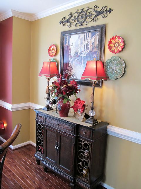 Reds And Picture Frame Cute Dining Room Sideboard