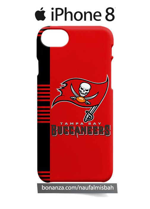 Tampa Bay Buccaneers Line iPhone 8 Case Cover Wrap Around - Cases, Covers & Skins