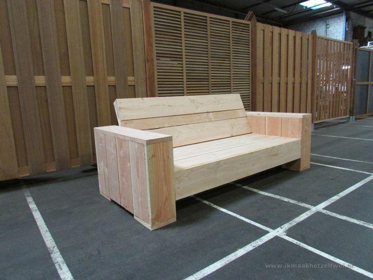 Bouwtekening Loungebank Steigerhout - IkMaakHetZelfWelnl