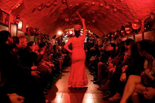 flamenco in Granada caves, Spain